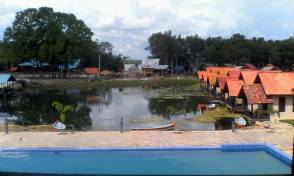 Lake for kayak.