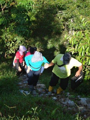 Jungle trekking.