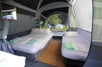 Inside camp.