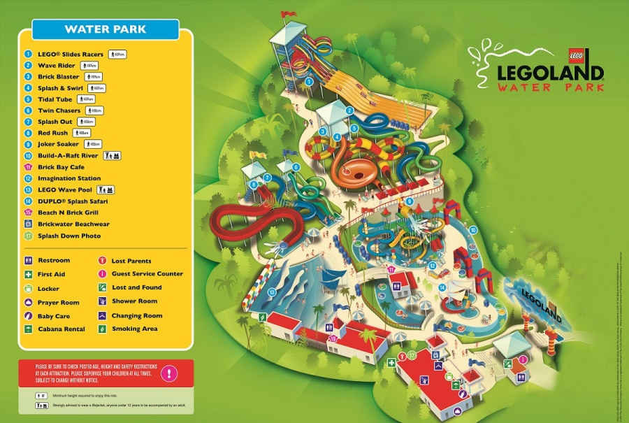LEGOLAND Water Park Map