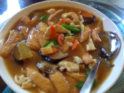 Chinese style cooked food.