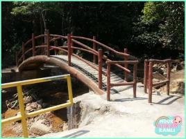 The entrance bridge.