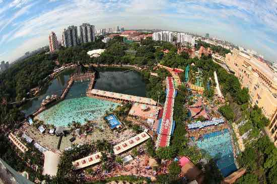 Aerial view of Sunway Lagoon.