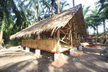 Rest huts.
