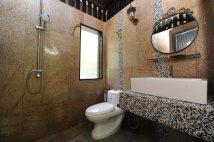 Inside toilet.