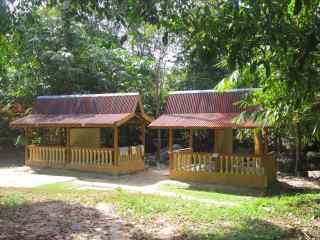 Rental rest huts.