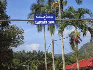 Welcome sign.