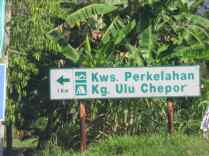 Sign from main road.