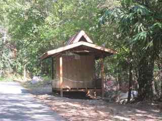 Rest hut for rent.