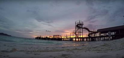 Water slides at the jetty.