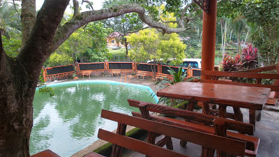 Pool view from cafe.
