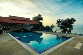 Swimming pool view.
