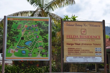 Park map and entrance fee.