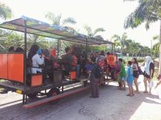Tram to hot springs park.