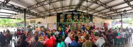 Inside restaurant.