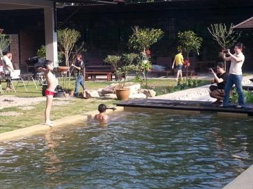 Pool of natural mountain water (air bukit)