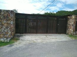 Front gate.