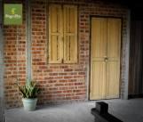 Cottage door.