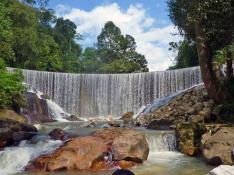 Dam near the waterfall.