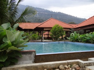 Pool in front of the chalet.
