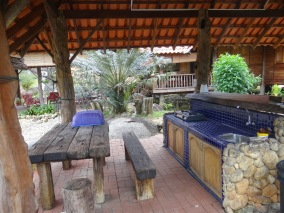 Kitchen and BBQ.