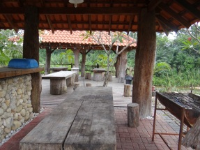 BBQ and dining area.
