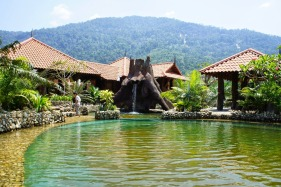 Pool in front of the villa.
