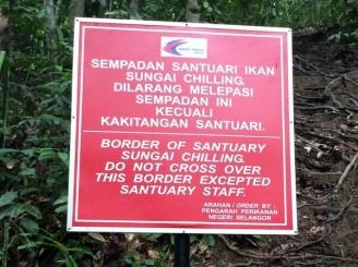 Boundary of the Fish Sanctuary.