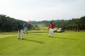 Golfing.