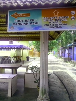 Path to foot bath.