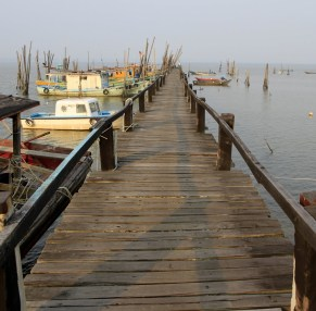 Fishermen boat jetty.