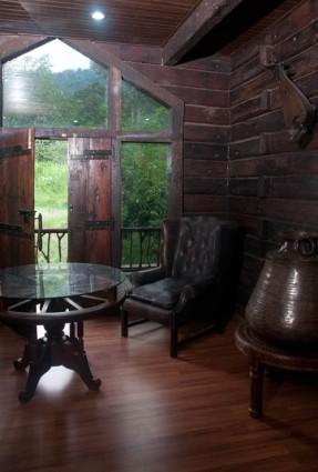 Living area in the villa.