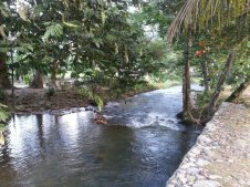 River at the front of the resort.