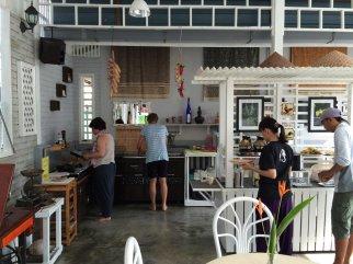 Guests preparing their breakfast.